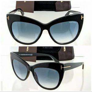 New Authentic Tom Ford Sunglasses TF 0523 01W NIKA